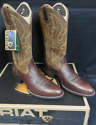 Ariat Sport R Toe Men's Western Boots, Fiddle Brown!  New!