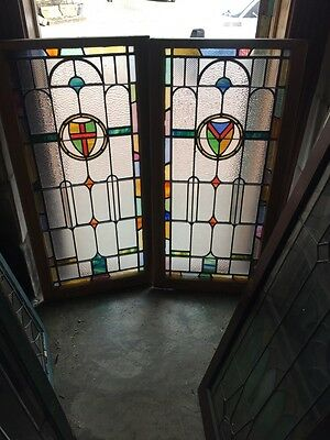 Sg 882 Available Price Separate Antique Stainglass Textured Glass Window