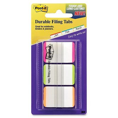 Post-it Durable Filing Tabs 1in x 1.5in