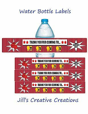 Boxing Water Bottle Labels, Water Bottle Labels, Birthday, Boxing