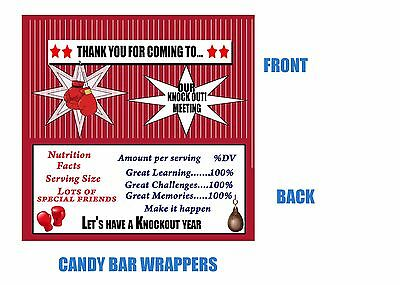 Boxing Candy Bar Wrappers, Candy Bar Wrappers, Boxing, Birthday