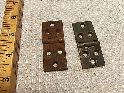 "Lot of TWO 2.5"" Old Very Rusty Hinges Antique DIY Hardware"