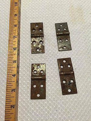 "Lot of FOUR 2.5"" Old Rusty Hinges Antique DIY Hardware"
