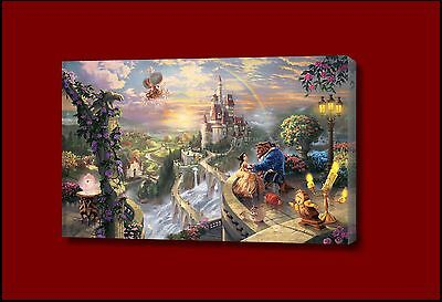 Beauty And The Beast  Disney Disney FRAMED CANVAS WALL ART