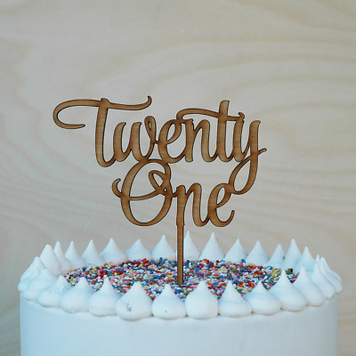 Pleasant 21St Birthday Cake Topper Wooden Happy Twenty First Cake Decor Personalised Birthday Cards Beptaeletsinfo
