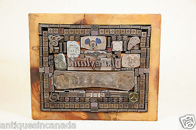Vintage DISNEY Letterpress Printing Blocks Print Type Mickey Mouse Donald Duck