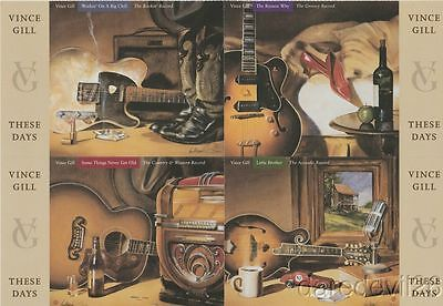 """2006 VINCE GILL """"These Days"""" CMA Music Festival Promo Card Sheet"""