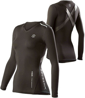 Virus Women's Stay Cool Compression Long Sleeve X-Form V-Neck XL Top (ECo12x)