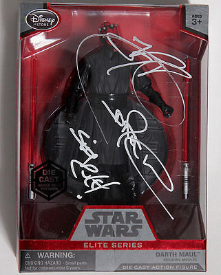 """STAR WARS DARTH MAUL SIGNED RAY PARK  w/EXACT PROOF DISNEY DIE CAST SERIES 6"""""""