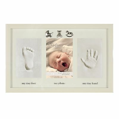 Baby Clay Hand Print And Foot Print Photo Frame Gift With Icons
