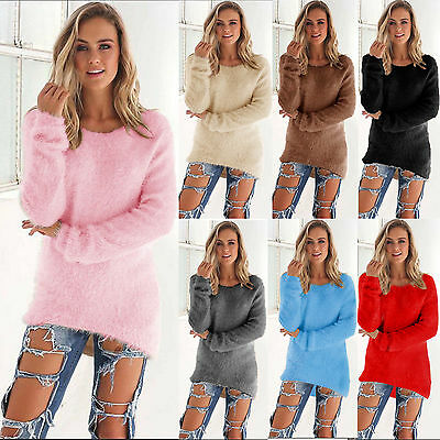Femme Dame Longues Manches Velours Chemisier Sweat Pull-over Haut Sweat