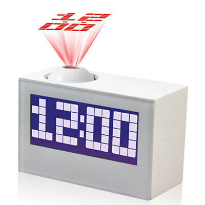 Digital Alarm Clock Radio with Time Projection Snooze Function Bedside Clock