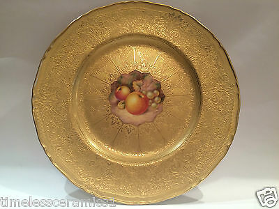 Royal Worcester Hand Painted Plate Signed Telford