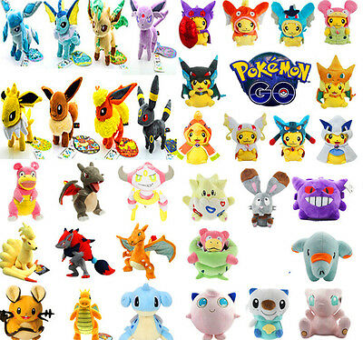 Pokemon GO Collectible Plush Character Soft Toy Stuffed Doll Children's Gift