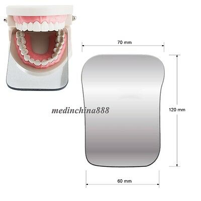 2sided Dental Intraoral Orthodontic Photographic Glass Mirror Rhodium Occlusal