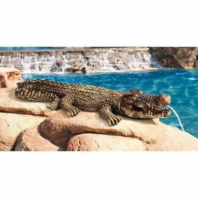 Design Toscano Swamp Beast 'Crocodile' Piped Garden Sculpture Ornament
