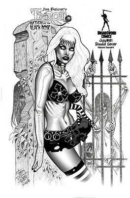 Tarot Witch of the Black Rose 81 studio cover Jim Balent NM FREE UK POST