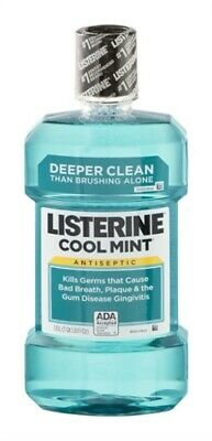 Listerine Antiseptic Mouthwash, Cool Mint, 33.8-Ounce Bottle (Pack Of 3)