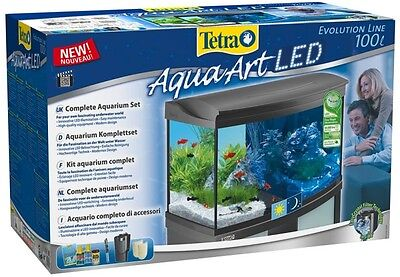 Large Tetra AquaArt Evolution Line LED Complete Aquarium Set 100L 77x38x48.2cm