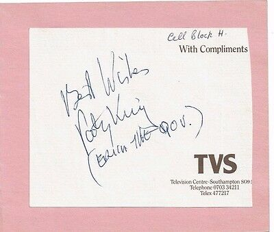 Patsy King Actress Erica - Prisoner Cell block H Hand signed TVS comps on card
