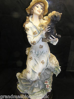 Giuseppe Armani Florence Capodimonte Lady With Dog Lucia Redemption Piece 1998