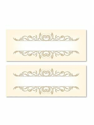 24 Gold Table Place Name Settings Meal Cards Xmas Party Birthday Dinner Wedding