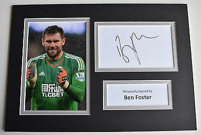 Ben Foster Signed Autograph A4 photo display West Brom Football AFTAL & COA
