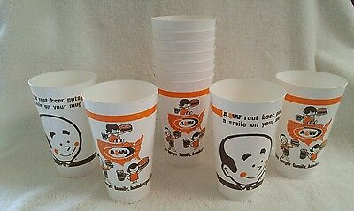 Lot of 11 Vintage A&W Root Beer Burger Family Plastic Cups Tumblers