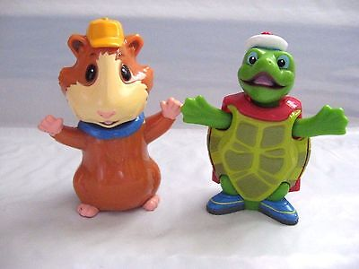 Wonder Pets Bobble Head Figures LINNY Hamster & Tuck the Turtle cake Toppers