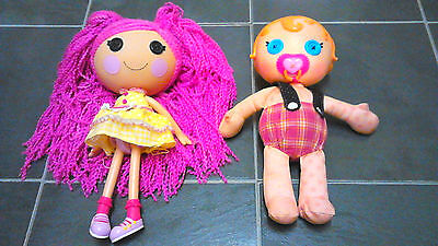 "2 Lala Loopsy Dolls Baby And One 12"" Doll"