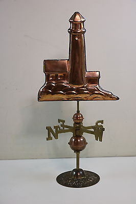 Brass & Copper Nautical Lighthous Weathervave With Ball & Directionals