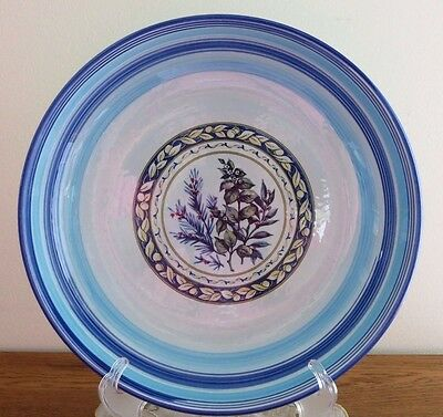 Blue Hues Handpainted Large Serving/Decorative Bowl by TreCi Italy Stoneware