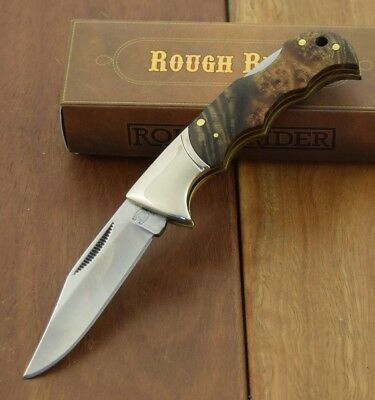 Rough Rider Knives Lockback Finger Grooved Folding Pocket Knife RR518