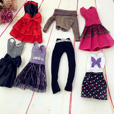 New 10Pcs Handmade Wedding Dress Party Gown Clothes Outfits For Barbie Doll Gift