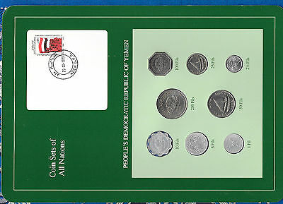 Coin Sets of All Nations Yemen Dem. Rep. 8 coin 1964 - 1984 UNC 1 Fil 1964