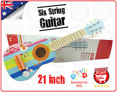 Kids Acoustic Guitar 21inch 53cm 6 string Rainbow Design Children's Educational