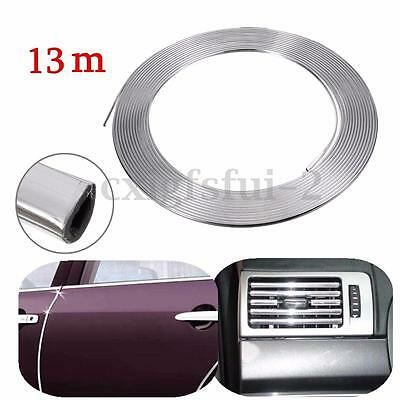 13m x 7mm Chrome Car Styling Moulding Strip Trim Adhesive Protector Door Edge