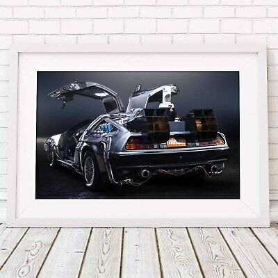 BACK TO THE FUTURE - Delorean Poster Picture Print Sizes A5 to A0 **FREE DELIVER