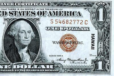 1935A HAWAII Silver Certificate US $1~~EXTRA FINE