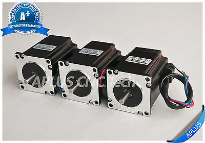 3 PCS NEMA 23 Stepper Motor, 255oz-in 76mm 3.0A, 1.8degree, 4wires