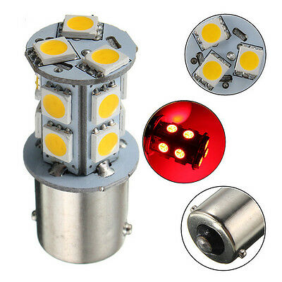 10x Red BA15S P21W 1156 LED 13SMD 12V RV Camper Trailer 1141 Interior Bulbs