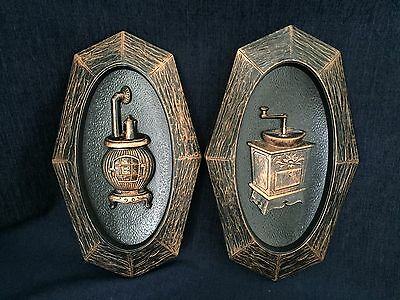 Vintage Coppercraft Guild Wall Hanging Plaques Set Of 2