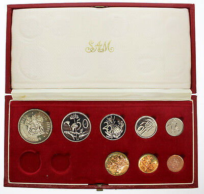 """South Africa 1975 Proof Coin Set """"no gold coin"""""""