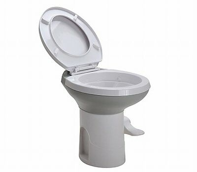 "NEW 17"" Seat Caravan Outdoor Camping Gravity Flushing Toilet, Full Bowl Coverage"