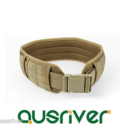1000D Nylon Detachable Adjustable Army Military Tactical Molle Padded Waist Belt