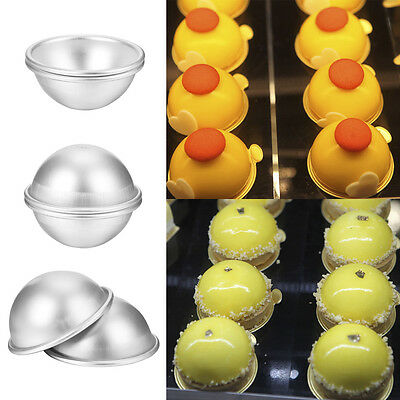 3D Aluminum Ball Sphere Bath Bomb Mold Cake Pan Tin Baking Pastry Mould 7CM * 2