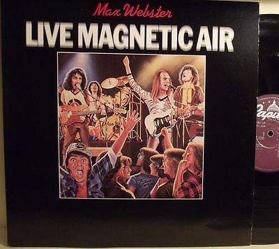 Lp-Max Webster-Live Magnetic Air-Canada 1979-N.mint