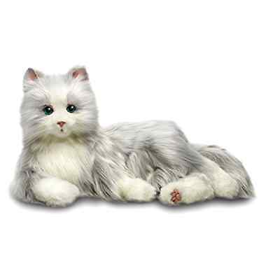 Cats Hasbro's Lifelike Joy for All Companion Cat Silver/White Allergy Free Pet