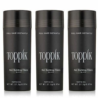 3 x TOPPIK (82.5g) Hair Loss Building Fibers ALL Colors > FREE Returns