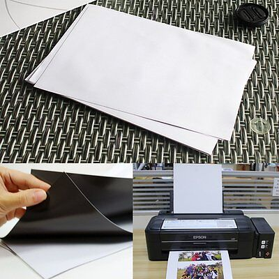 10x Glossy Magnetic Magnet Inkjet Printable A4 Paper Sheet for Fridge Whiteboard